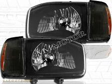 For 99-04 Nissan Pathfinder 4D Black Housing w/Clear Cover Lens & Corner Lights