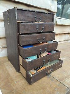 Vintage Mid Century Card Index Drawers. Haberdashery / Shop Display