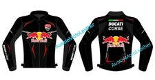 DUCATI THEME REDBULL MOTORBIKE MOTORCYCLE COWHIDE LEATHER BIKERS RACING JACKET