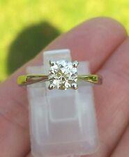 0.68ct platino diamante solitario anillo de corte antiguo