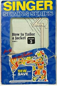 1972 Vintage Singer Sewing Series How To Tailor A Jacket Part 1 Booklet #5 9481