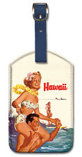 Leatherette Travel Luggage Tag Baggage Label - Hawaii Northwest Orient Airlines