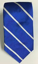 Ralph Lauren Polo Tie Silk Blue White Stripe New 57 x 3.5 Made in Italy Mens