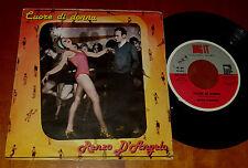 "45 GIRI – 7"" RENZO D'ANGELO - CUORE DI DONNA  / SOLE electronic disco raro 1982"