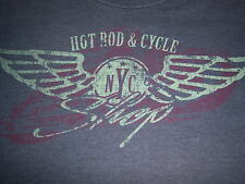 retro HOT ROD & CYCLE SHOP NYC t shirt by SONOMA - vintage look graphics  - (M)