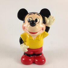 Vintage Disney Productions Mickey Mouse Plastic Bank Made In Japan