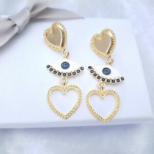 I HEART I SEE ,  EYE Stud Earrings  Festival Carnival - South American design