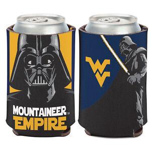 West Virginia Mountaineers 2-Pack Zipper Bottle Tonal Black Beverage Insulator Neoprene Holder Cooler Coolie University of