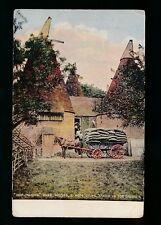HOP PICKING Kent Oast Houses Hops taken for drying c1920s? PPC