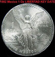 1982 KEY DATE Silver coin 1 OZ .999 Libertad Onza SEALED Brilliant MS UNC Coin