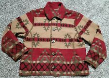 MINT! WOOLRICH Native Reversible Cardigan Indian Blanket Coat-Wmn's M-Wool Blend