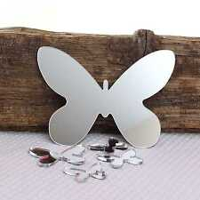 Butterfly Wall Mirror for Bedroom Bathroom Kitchen Living Room & Sticky Pads