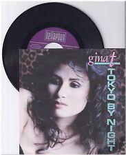 "Gina t., tokyo by night, vg/vg 7"" single 999-395"