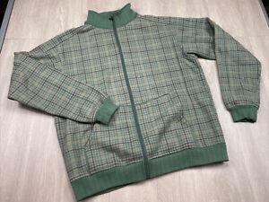 Lululemon Mens Full Zip Jacket Houndstooth Design Fleece Lined Green Size Large