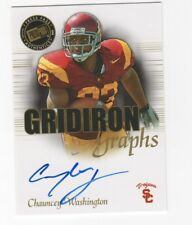 Chauncey Washington AUTOGRAPH RC USC Trojans 2008 Press Pass AUTO Football Card