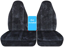 96-03- Ford F150 40-60 seat Highback camo  car seat covers, NO CONSOLE COVER