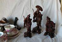 Vintage Chinese Carved Wood Figurines