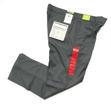 NWT Haggar Mens In Motion Performance Straight Fit Stretch Pants Gray Size 40x29