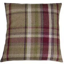 "Tartan Check Cushion Cover Elgin Heather 16"" x 16"""