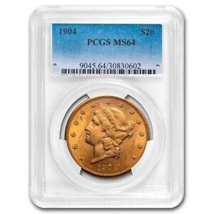 1904 $20 Liberty Gold Double Eagle MS-64 PCGS