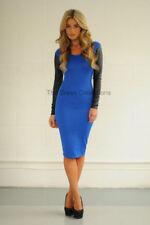 Vestiti da donna stretch blu in pelle sintetica