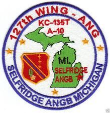 US ANG BASE PATCH, 12TH WING, SELFRIDGE ANGB MICHIGAN, KC-135T, A-10      Y
