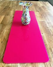 Rectangle Table Runner / Protector in Pink Gloss Finish Acrylic 3mm