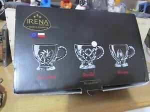 Superb Irena Lead Free Crystal Set of 6 Tea Cups