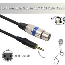3m XLR 3pin Female to 3.5mm 1/8'' TRS Male Cable Audio Adapter Microphone Cable
