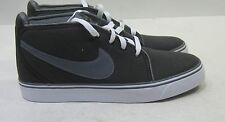 Nike Toki Canvas 446336-090 Black / Dark Grey White  size 8