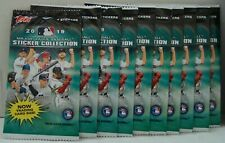 2019 TOPPS MLB STICKERS COLLECTION 10 PACKS WITH 4 STICKERS PER PACK NEW