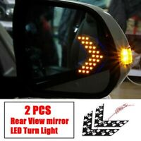 2x Amber Car Side Rear View Mirror 14SMD LED Lamp Turn Signal Light Indicator