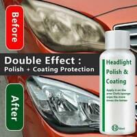 Car Headlight Polishing Fluid Restoration Kit Car Scratch Repair Coating Clean^