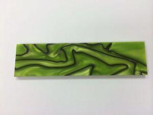 """KIRINITE: Toxic Green/Black 1/8"""" 6"""" x 1.5"""" Scales for Wood Working, Knife Making"""