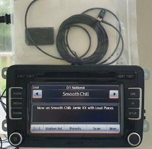VW RCD 510 DAB+ Touchscreen Radio Stereo 6 CD Changer SD MDI Aux DAB + CODE Golf