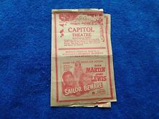 1952 Capitol Theatre Program  Maryville, Tennessee