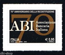 ITALIA 1 FRANCOBOLLO ABI ASSICURAZIONE BANCARIA ITALIANA 2015 nuovo**