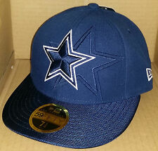 NWT NEW ERA Dallas Cowboys TX 59FIFTY size 7 1/8 fitted low profile cap hat NFL