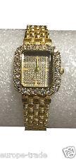 Womage Reyes Niña Pulsera De Oro Reloj Dama Moda Diseñador Cuadrado Elegancia