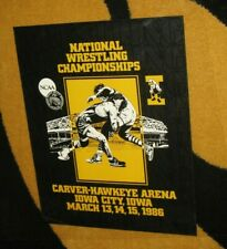Vtg 1986 Iowa Hawkeyes National Wrestling NCAA Championship Promotional Poster