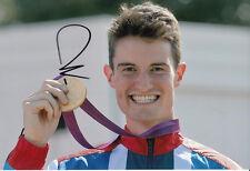 Peter Wilson Firmada A Mano 12x8 Foto Juegos Olímpicos de Londres 2012 Oro Medalla Ganador 1.
