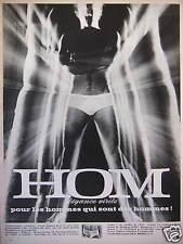 PUBLICITÉ 1969 SOUS-VÊTEMENTS SLIP HOM ÉLÉGANCE VIRILE POUR HOMMES - ADVERTISING
