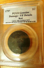 PCGS VF Bent 1797 Genuine Liberty Coin 1C Draped Bust Cent American