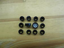 CARRERA SERVO 140 V1-12 Stück Hinterreifen Reifen Supergripp Gerade Felge NEU