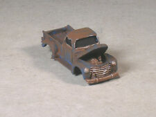 Ho Scale Blue Rusted Out 1951 Chevy Pickup w/ Hood up