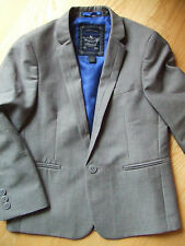 Smart Slim Collar jacket single button breast Fully lined silver grey Wedding