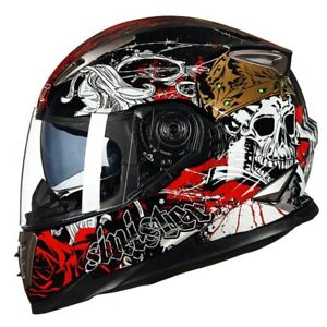Full face Motorcycle helmet Dual Visor Modular motorcycle helmets Racing helmet