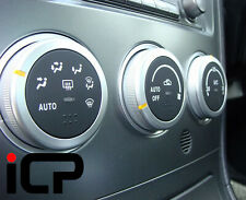 Black & Silver HVAC Controls Fits: Subaru Impreza WRX STi 05-07 S204 RA RB320