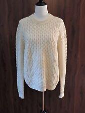 Unbranded Wool Fisherman Knit Pullover Sweater Men's L