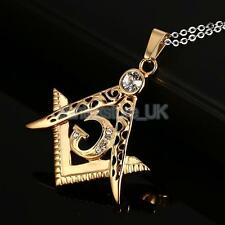 Freemason Pendant Men's Freemasonry Stainless Steel Masonic Necklace Hip Hop